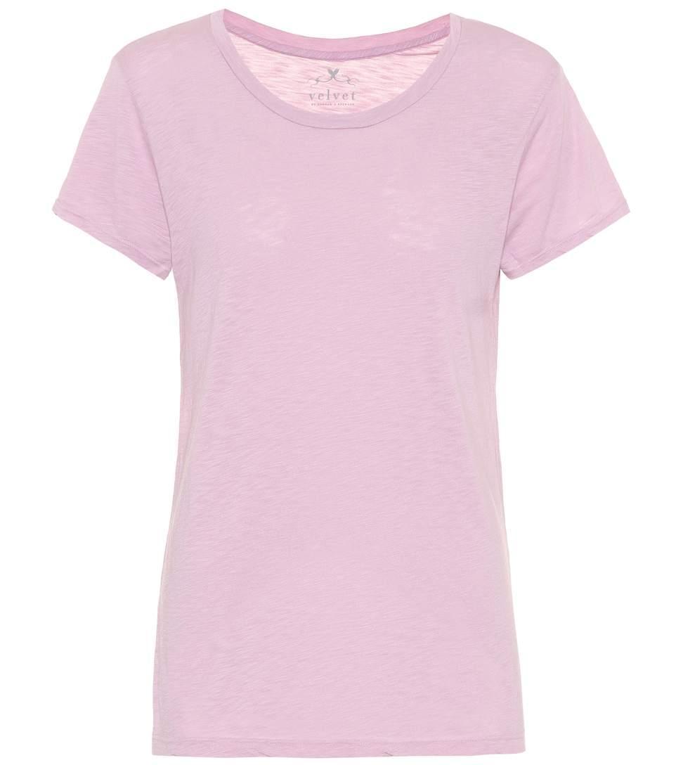 Velvet Courtney Cotton-blend T-shirt