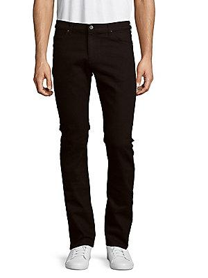 Versace Pantalone Slim-fit Jeans In Black