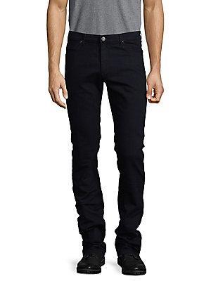Versace Jeans Pantalone Slim-fit Five Pocket Jeans In Blue Black