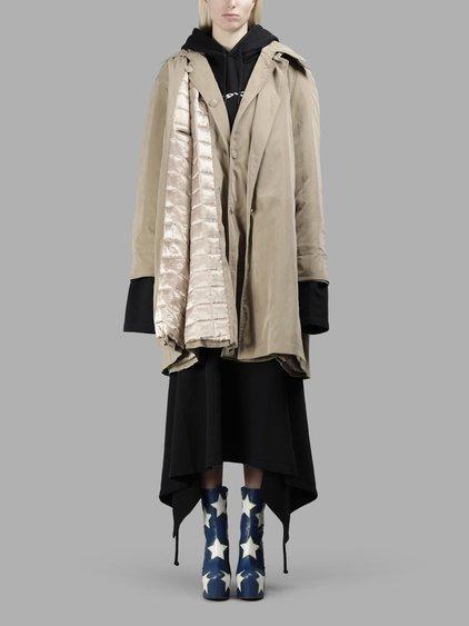 Vetements Women's Beige Granny Double Coat