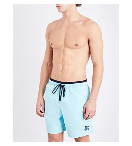 Vilebrequin Moka Two-Tone Swim Shorts In Sky Navy