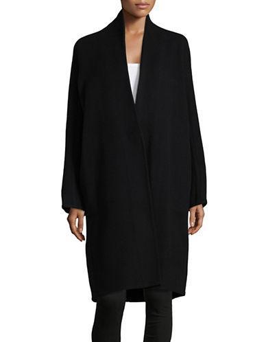 Vince High-collar Wool-blend Cardigan-black