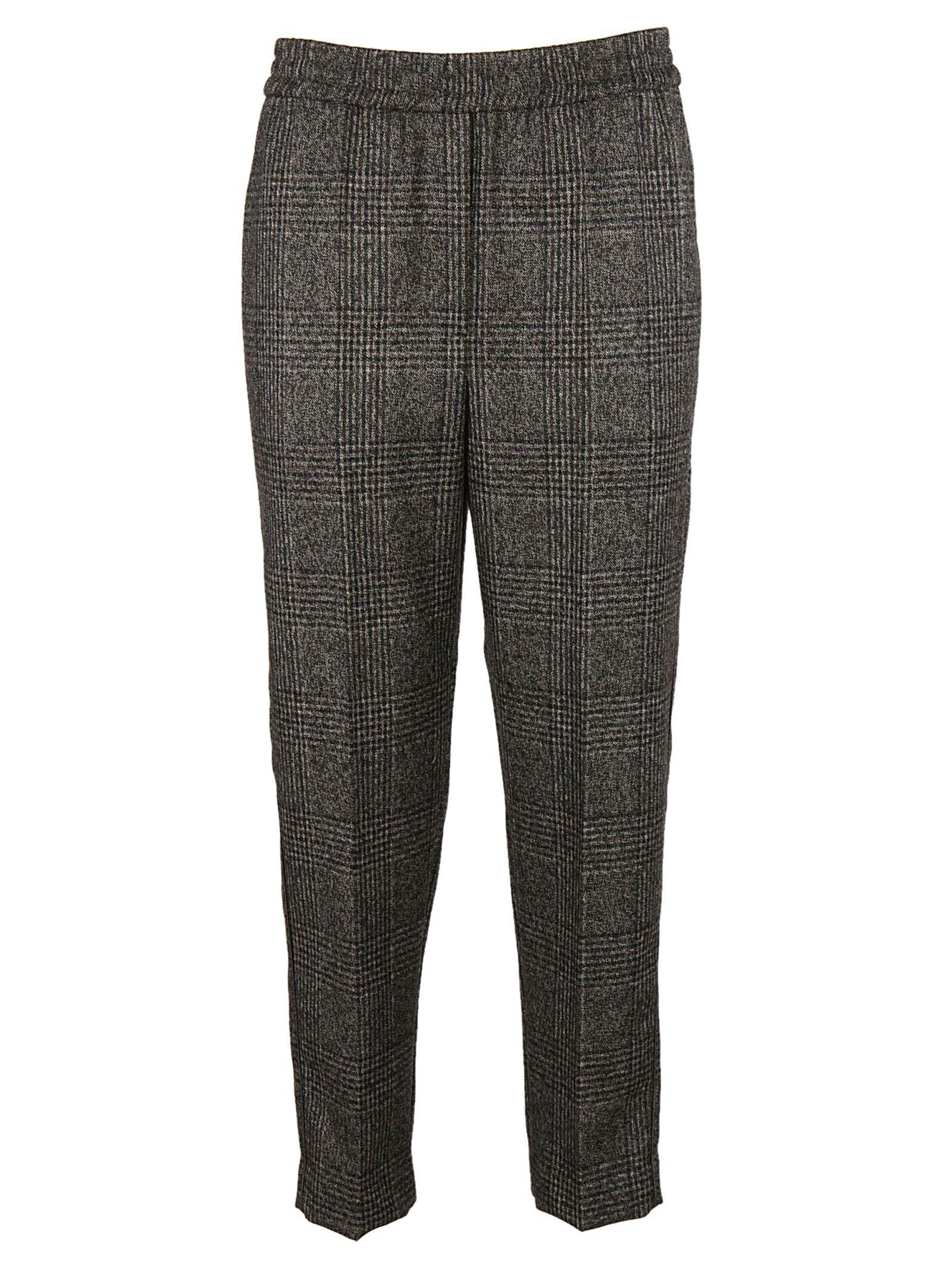 Brunello Cucinelli Classic Checkered Trousers In Grey