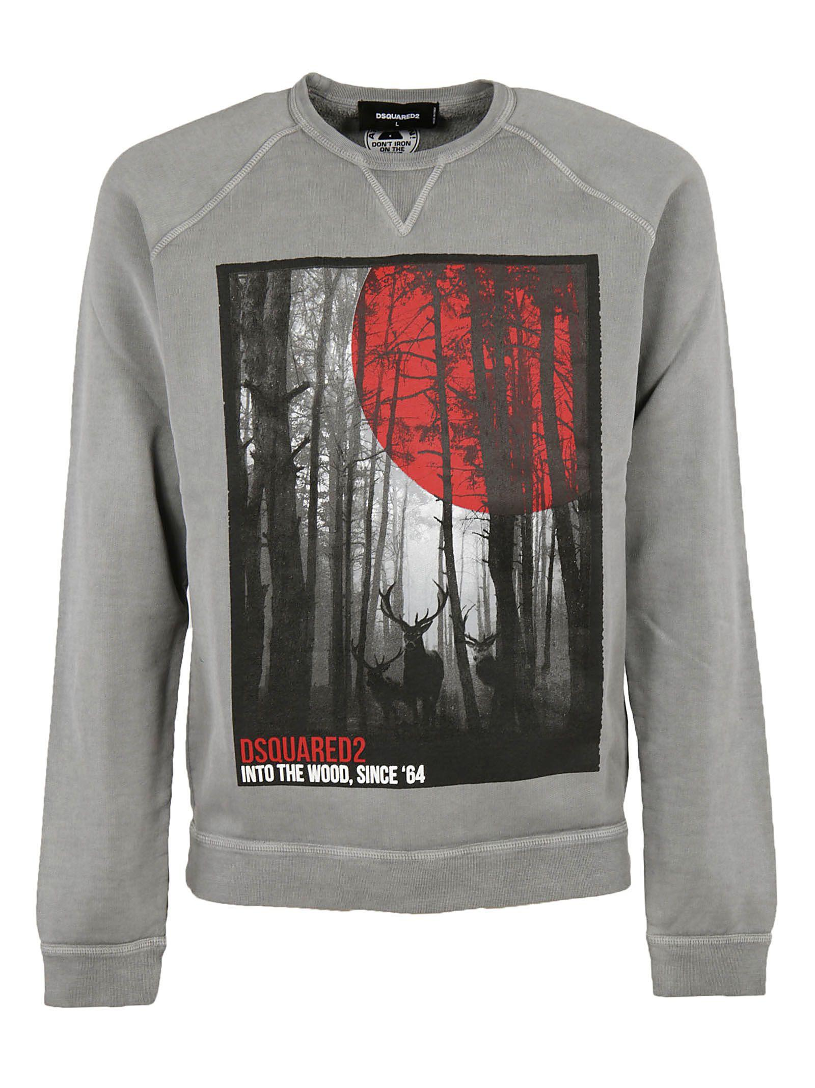 Dsquared2 Printed Sweatshirt In Grey