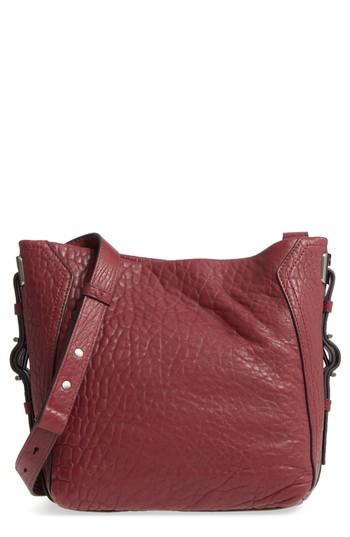 Vince Camuto Fava Leather Bucket Bag - Burgundy In Samba