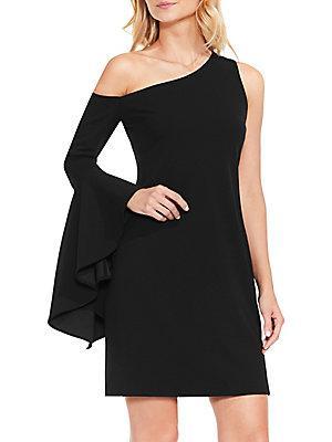 Vince Camuto One-shoulder Sheath Dress In Black