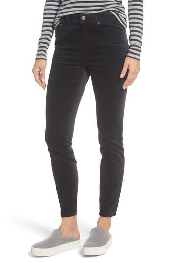 Vineyard Vines Velvet Skinny Jeans In Jet Black