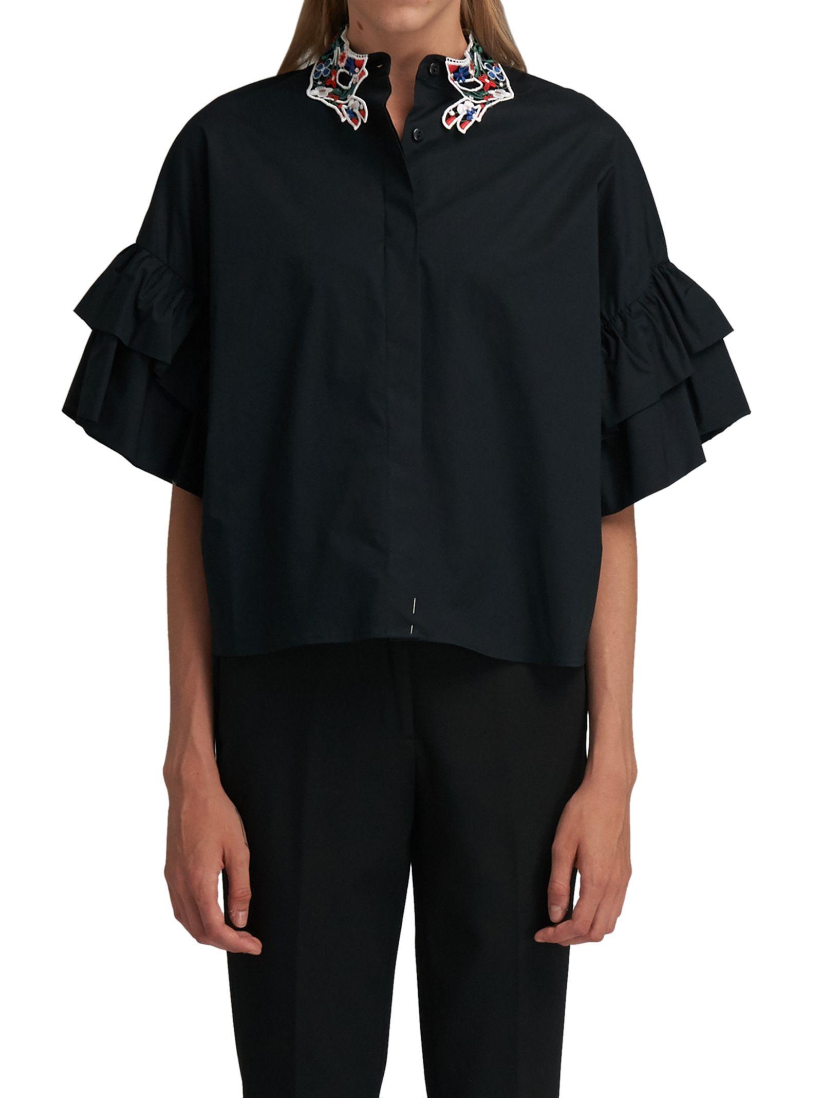 Vivetta Black Shirt Rouches