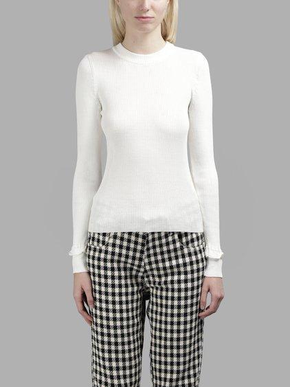 Wales Bonner Women's White Renaissance Crewneck Knitwear