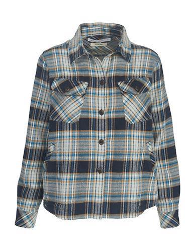 Woolrich Flannel Cotton Shirt Jacket-blue