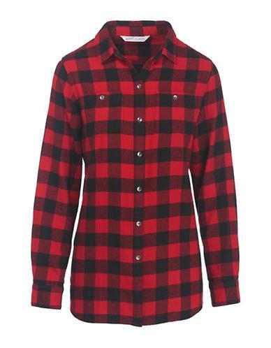 Woolrich Flannel Cotton Sport Shirt-red