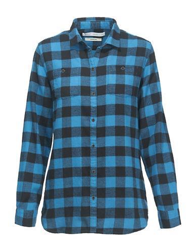 Woolrich Flannel Cotton Sport Shirt-blue
