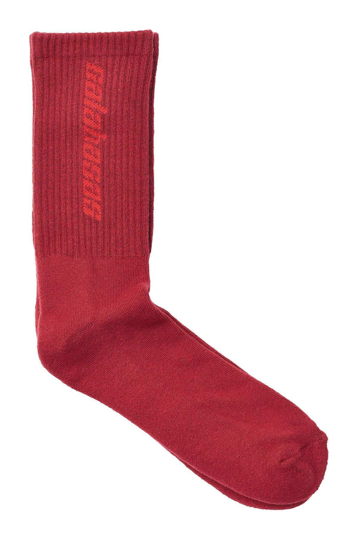 Yeezy Cotton Socks In Red