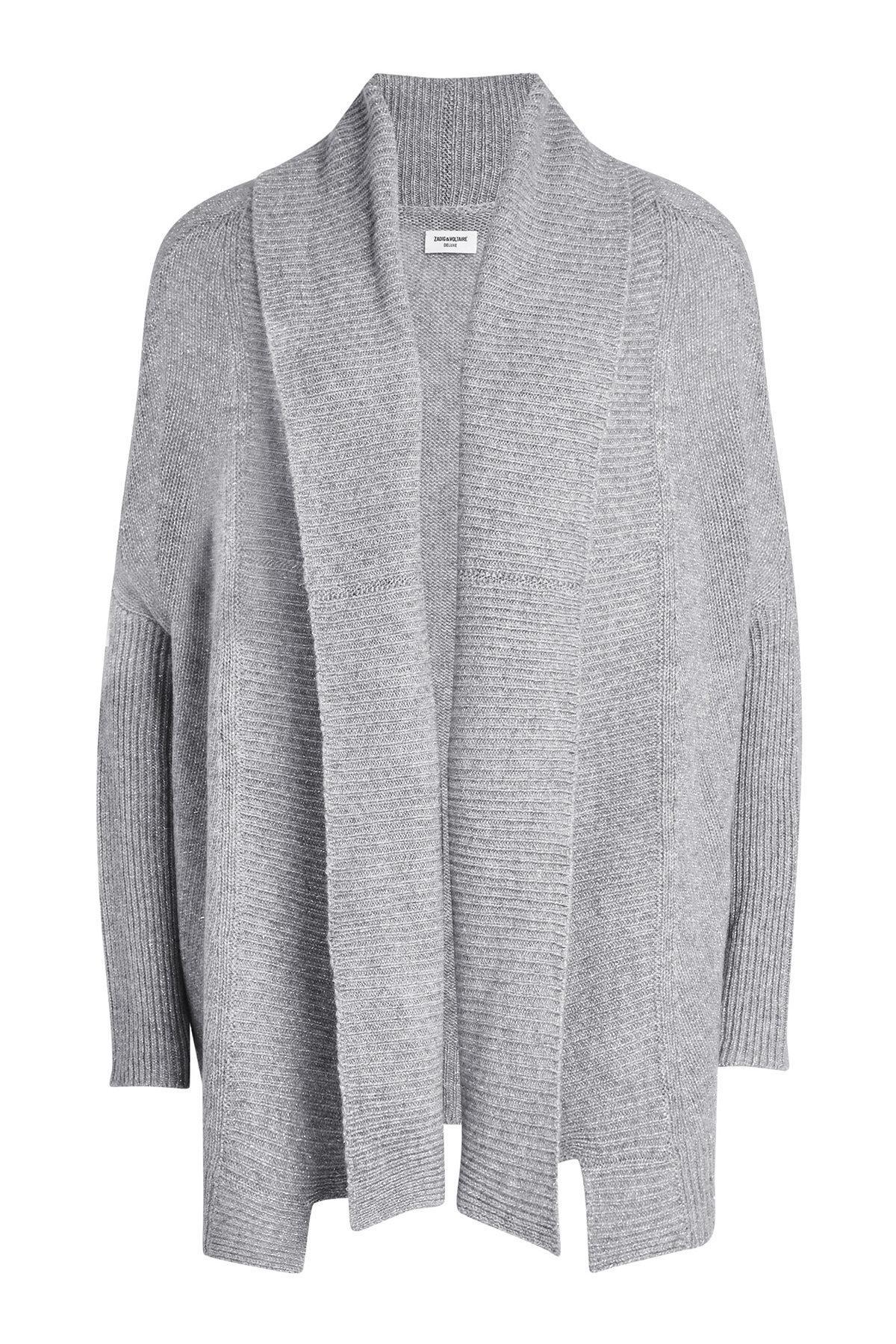 Zadig & Voltaire Cashmere Cardigan In Grey