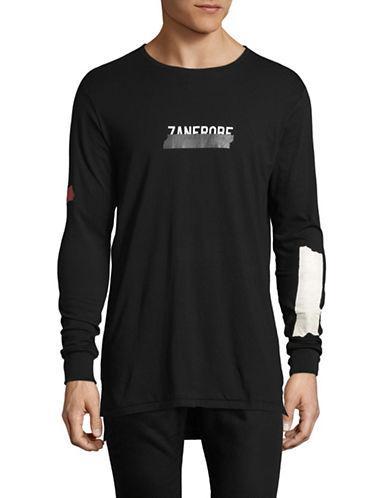 Zanerobe Tape Flintlock Cotton Tee-black