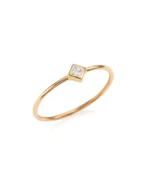 ZoË Chicco Diamond & 14K Yellow Gold Solitaire Ring