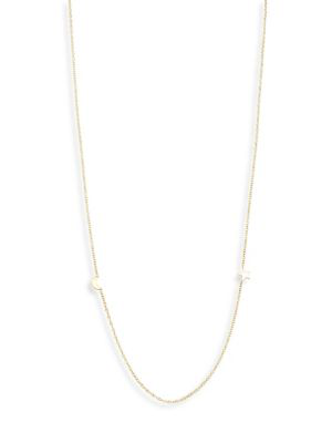 ZoË Chicco 14k Yellow Gold Itty Bitty Crescent Moon And Star Necklace, 18