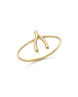 ZoË Chicco 14k Yellow Gold Small Wishbone Ring