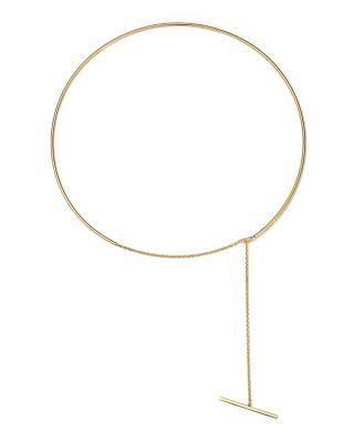 ZoË Chicco 14k Yellow Gold Wire And Toggle Chain Choker Necklace