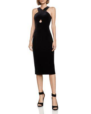 Bcbgmaxazria Maren Velvet Dress In Black