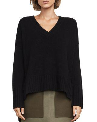 Bcbgmaxazria Reona High/low Sweater In Black