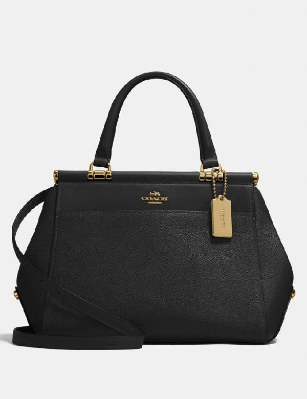 Coach Grace Bag In Black/light Gold