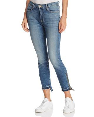 Frame Le High Skinny Released Stagger Zip Jeans In Revere - 100% Exclusive In Revere Wash