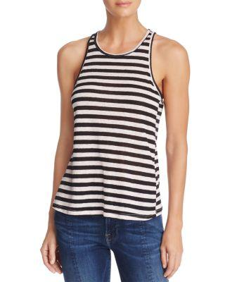 Frame Army Striped Racerback Tank In Link Pink Multi