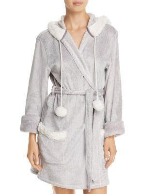 Pj Salvage Cozy Hooded Robe In Gray