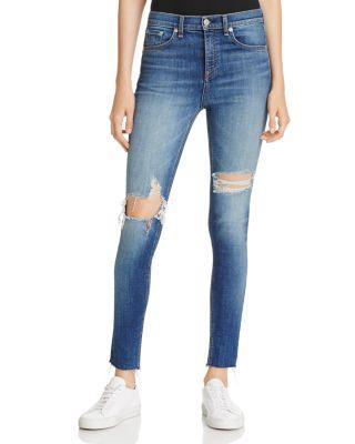 Rag & Bone Rag And Bone Blue High-rise Skinny Jeans