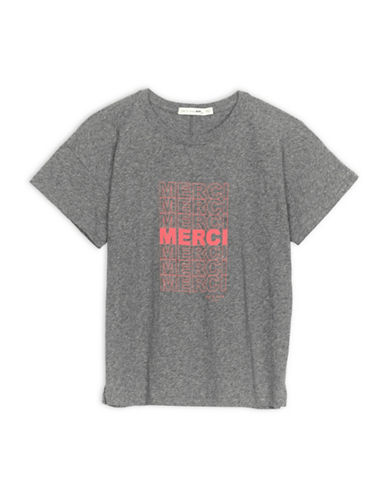 Rag & Bone Merci Graphic Tee In Grey