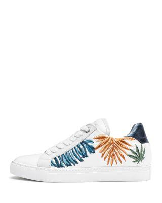 Zadig & Voltaire Women's Jungle Brod Leather Sneakers In White