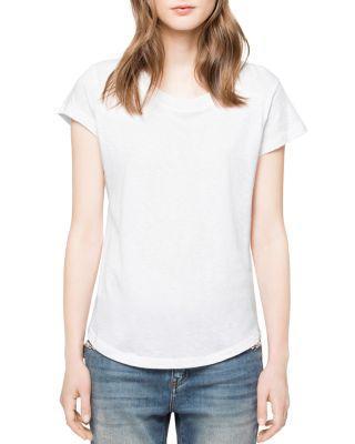 Zadig & Voltaire Woop Slub Short-sleeve Tee In White