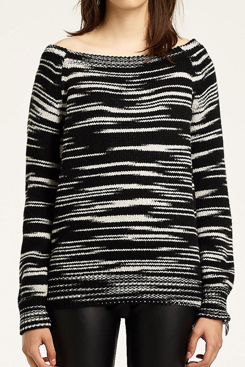 Rebecca Minkoff Shelby Sweater In Black Space Dye