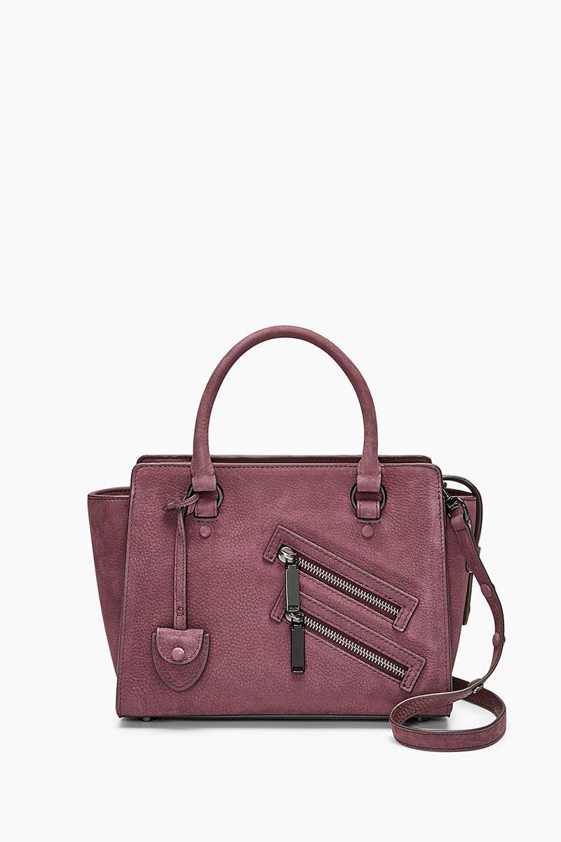 Rebecca Minkoff Small Jamie Leather Satchel - Purple In Dark Cherry