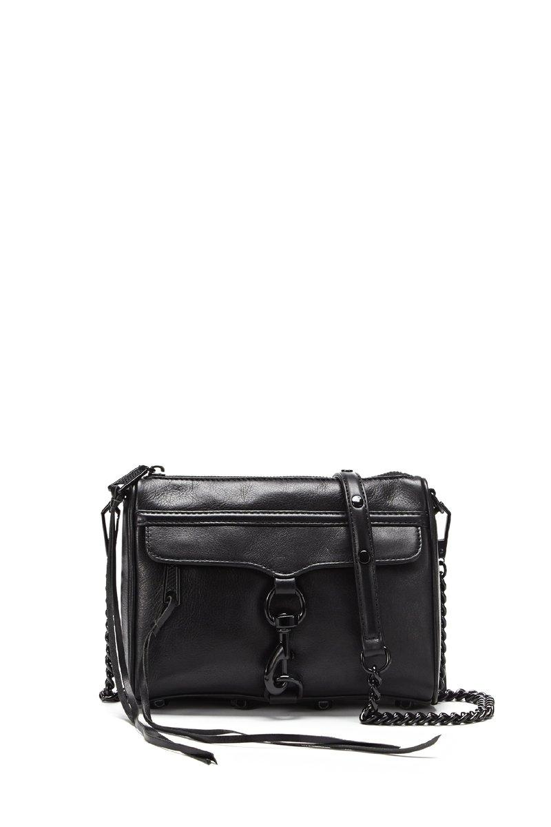 Rebecca Minkoff Black On Black Mini M.a.c. Crossbody Bag |
