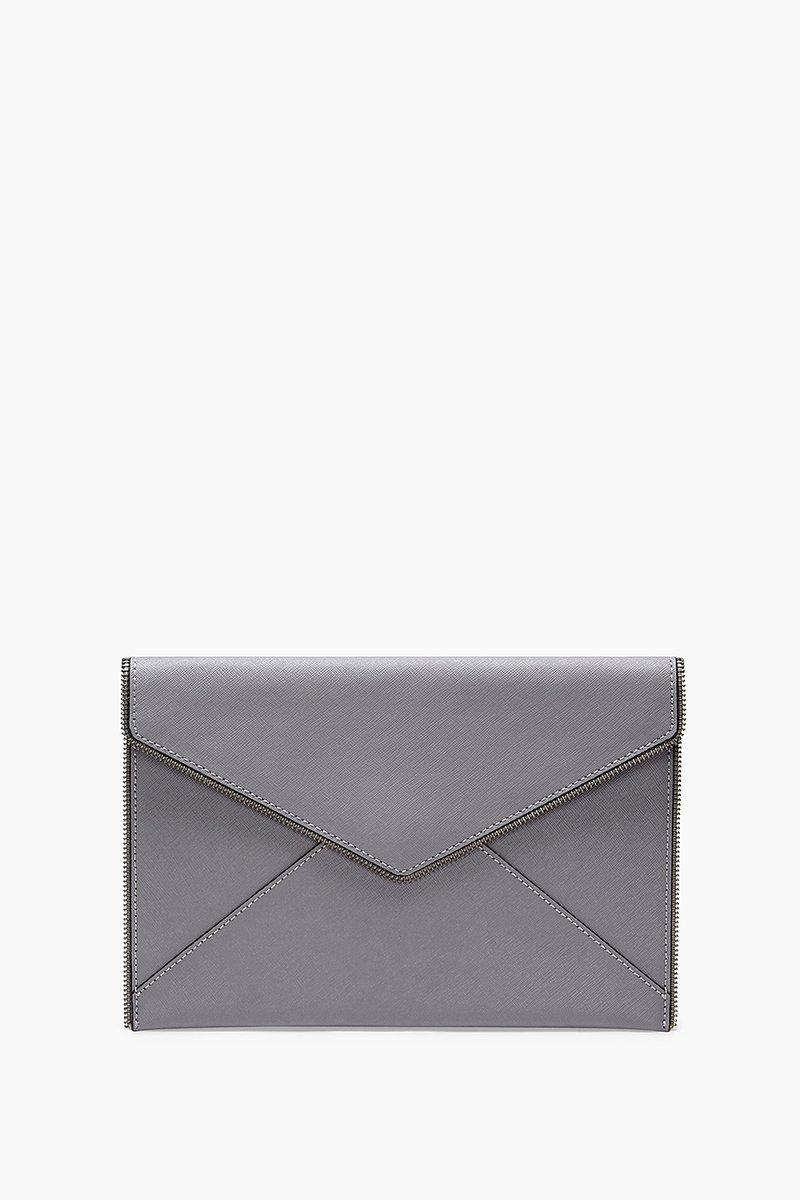 Rebecca Minkoff Leo Envelope Clutch - Grey