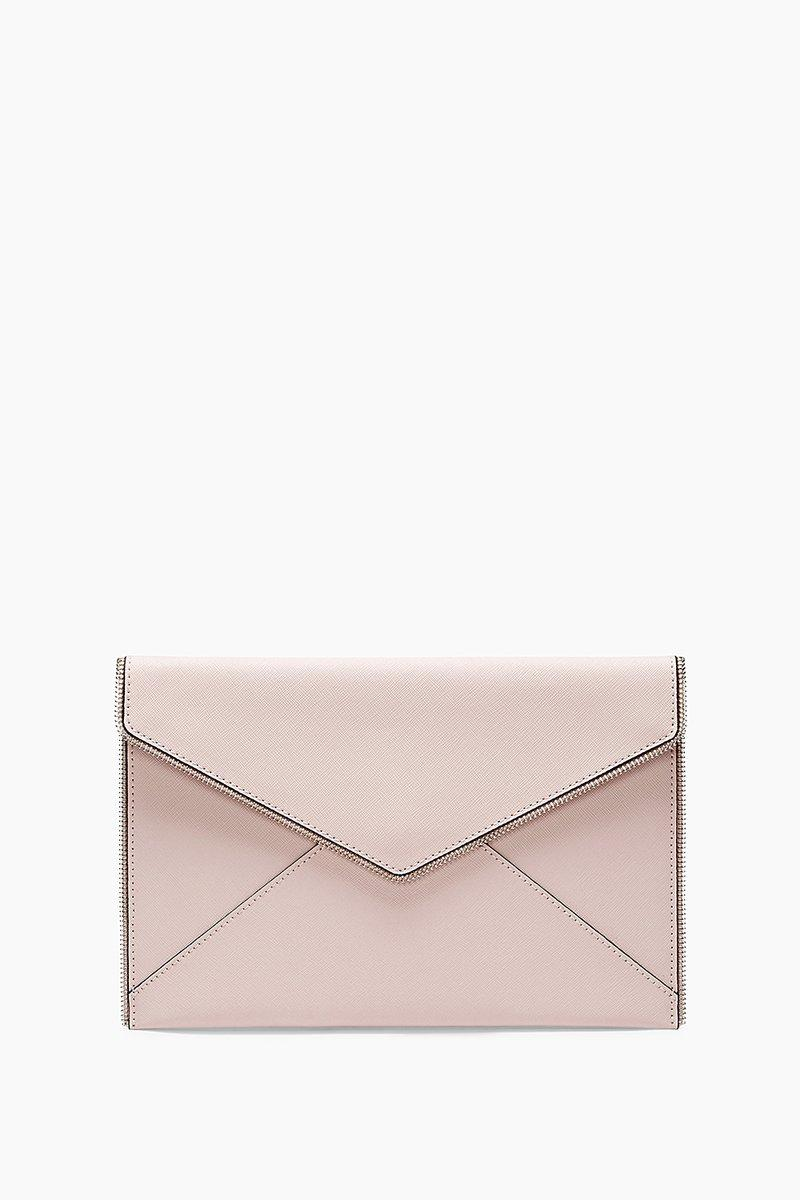 Rebecca Minkoff Light Vintage Pink Leo Clutch |