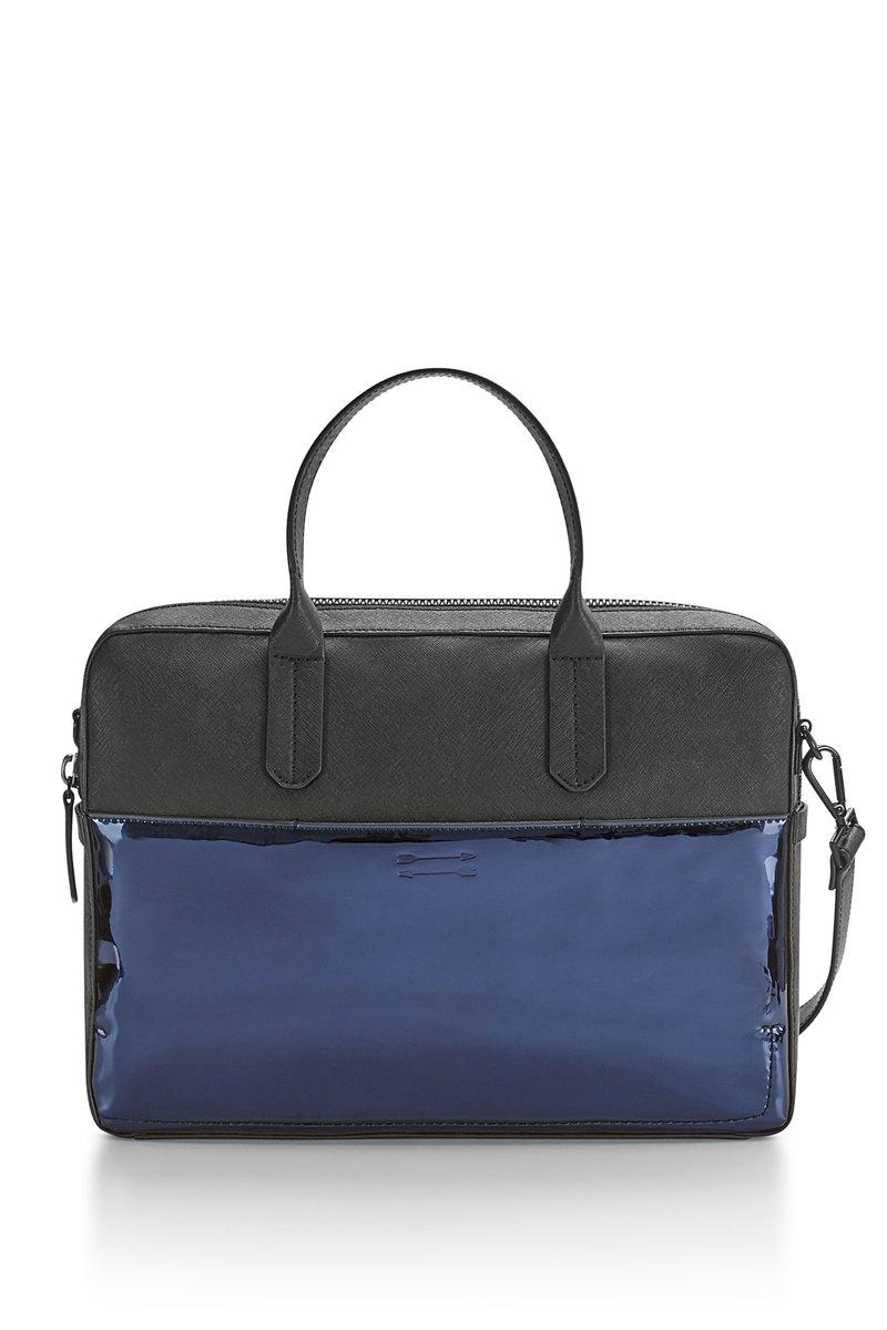 Rebecca Minkoff Fulton Brief In Blue Chrome