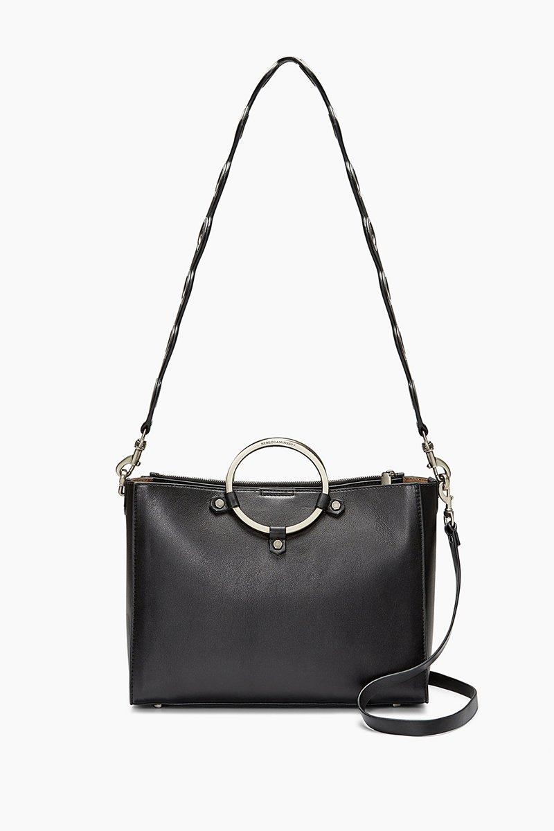 Rebecca Minkoff Ring Satchel In Black