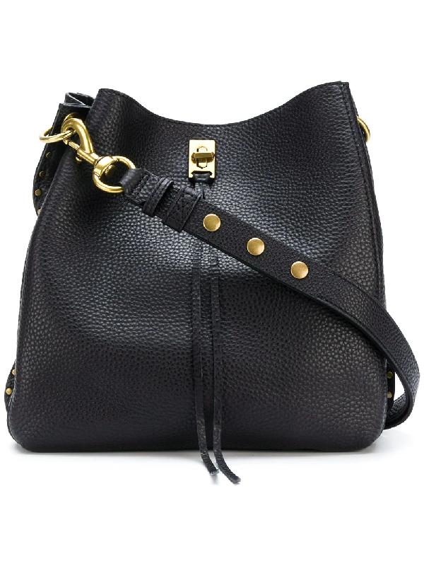 Rebecca Minkoff Small Darren Deerskin Leather Feed Bag - Black