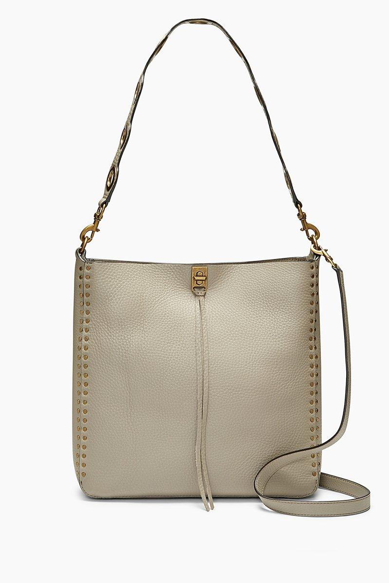 Rebecca Minkoff Darren Feed Bag In Taupe