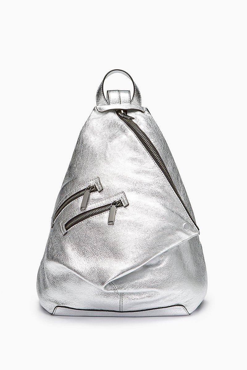 Rebecca Minkoff Jamie Backpack In Silver