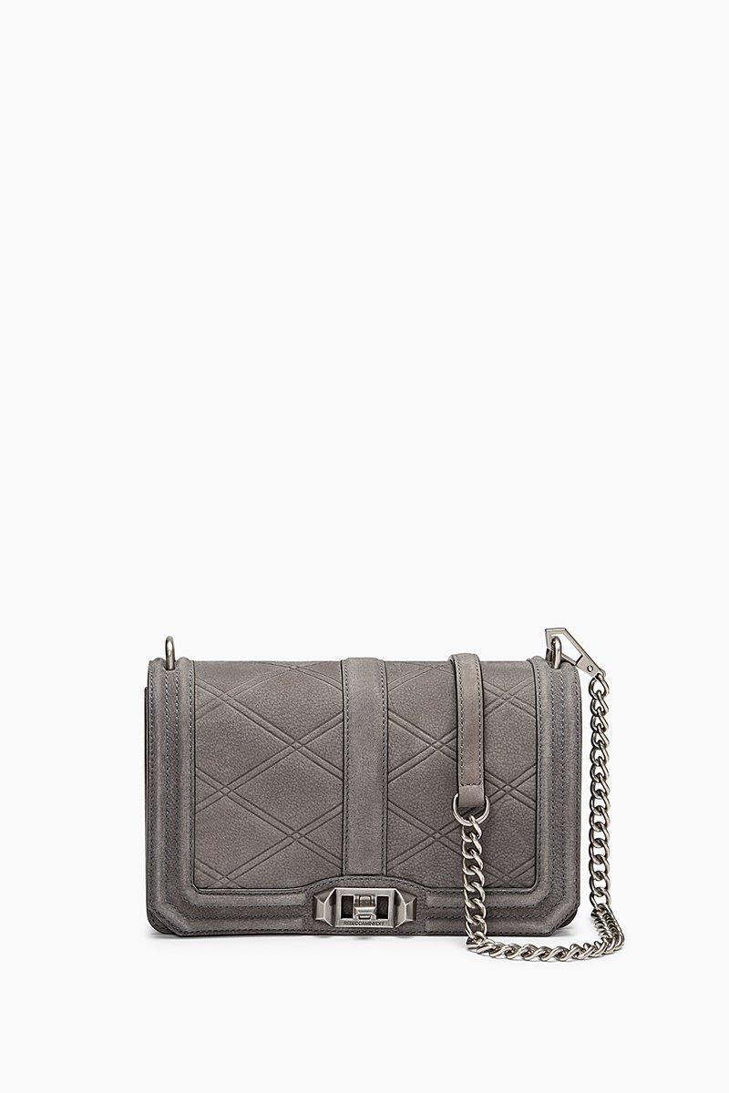 a4cd86136 Rebecca Minkoff Love Embossed Crossbody In New Grey | ModeSens