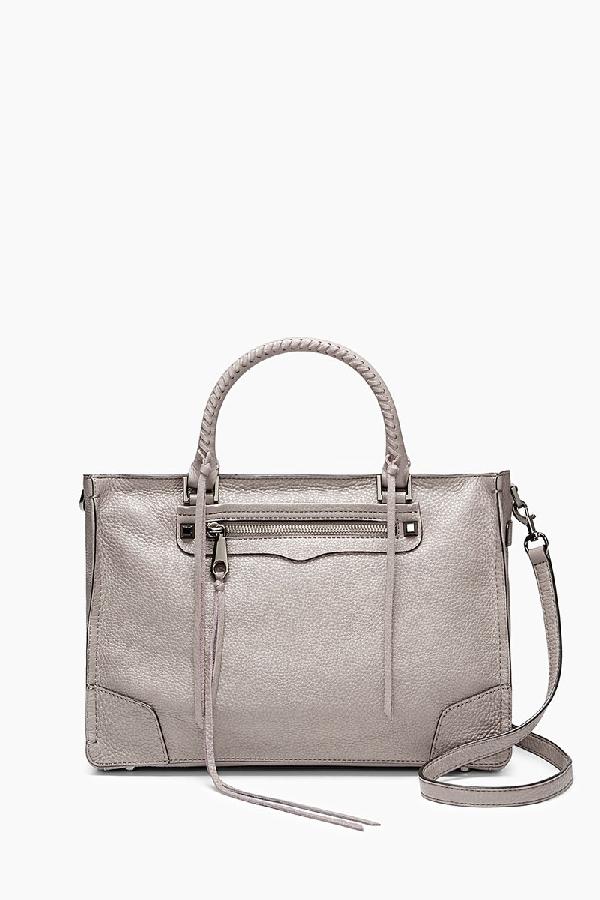 Rebecca Minkoff Regan Satchel Tote | Light Grey Structured Shoulder Bag
