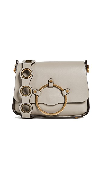 Rebecca Minkoff Ring Leather Shoulder Bag - Beige In Taupe