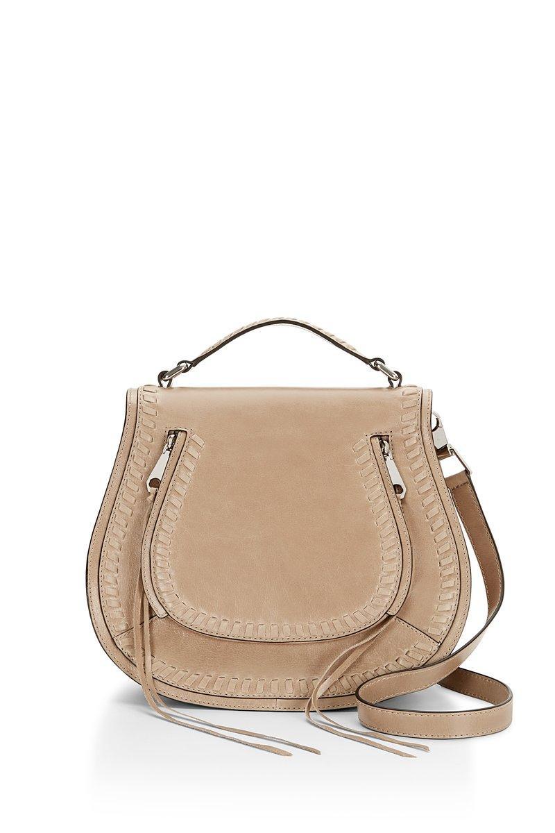 Rebecca Minkoff Vanity Saddle Bag In Cammeo