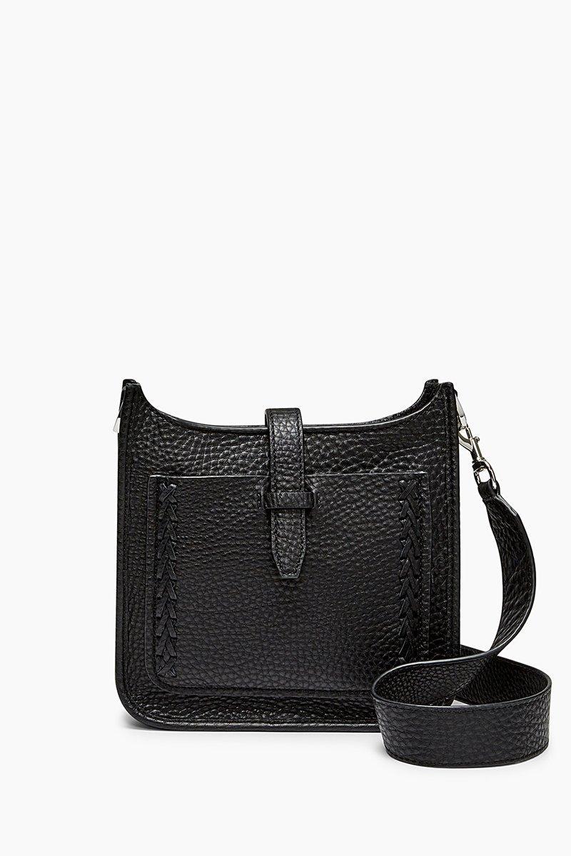 Rebecca Minkoff Mini Unlined Feed Bag Whipstitch In Black