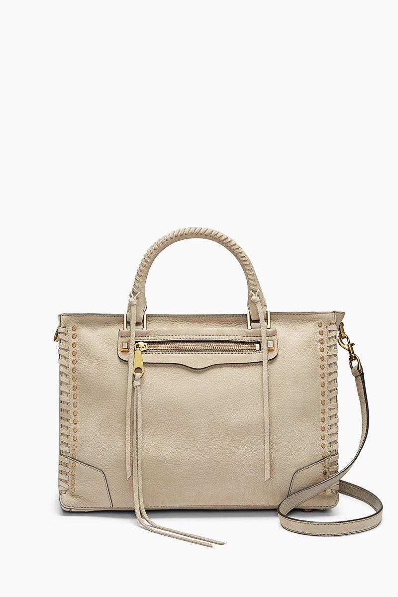 Rebecca Minkoff Regan Satchel Tote In Mushroom