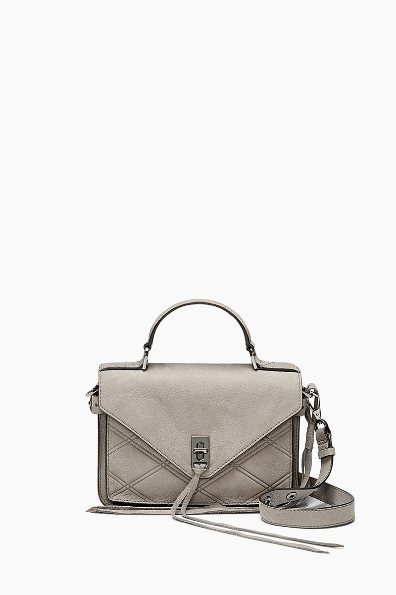 Rebecca Minkoff Small Darren Messenger In Grey